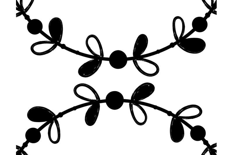 plant-leaf-wreath-clip-art-set