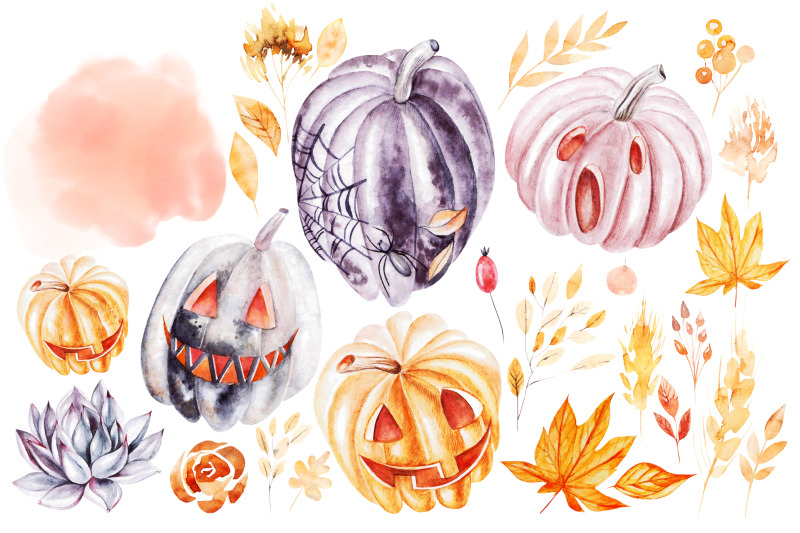 watercolor-halloween-collection