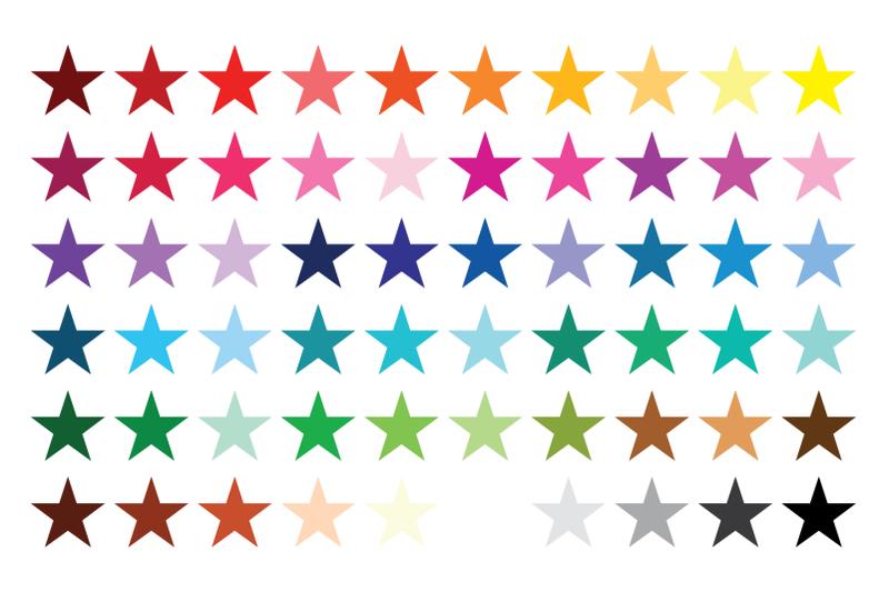 star-trio-clip-art-set