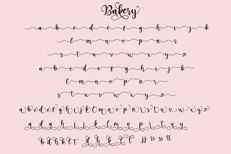 bakery-script-font
