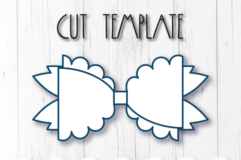 Hair bow template SVG, DXF, PDF with DIY tutorial By ...