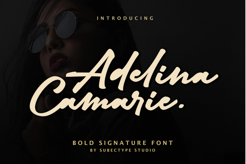 Download Adelina Camrie Bold Signature Font Family From