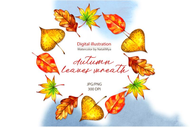 watercolor-autumn-leaves-wreath