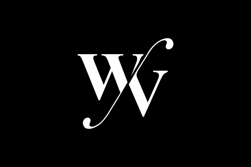 wv-monogram-logo-design