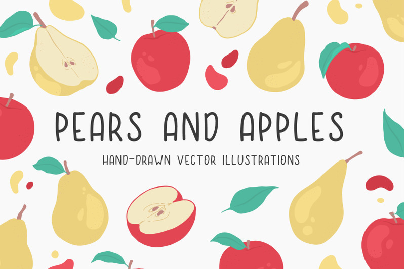 pears-and-apples-illustrations