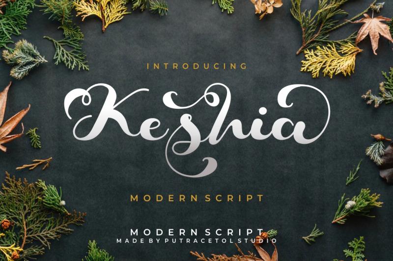 keshia-script-font
