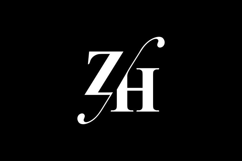 zh-monogram-logo-design
