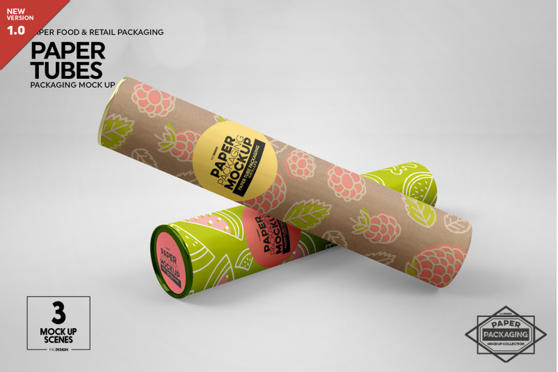 Free Paper Tube Packaging Mockup (PSD Mockups)