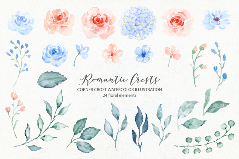 watercolor-romantic-crest-design-kit