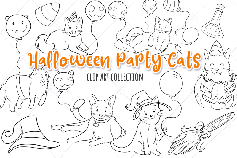 halloween-party-cats-digital-stamps