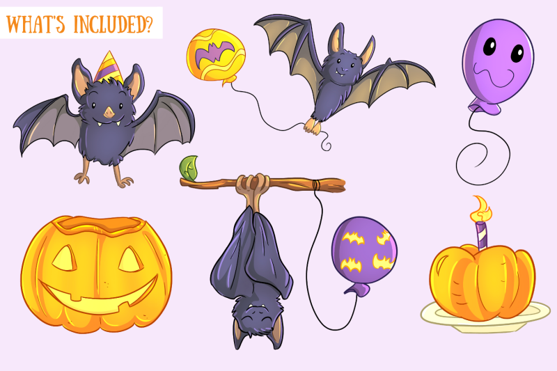 halloween-party-bats-clip-art-collection