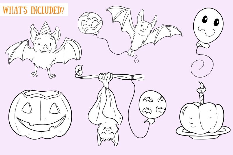 halloween-party-bats-digital-stamps