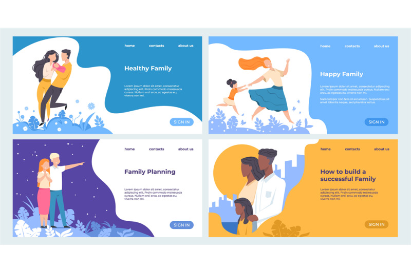 family-landing-page-healthcare-and-insurance-web-page-business-templa