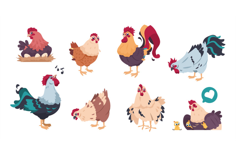 chicken-and-rooster-cute-poultry-farm-characters-cartoon-chick-with