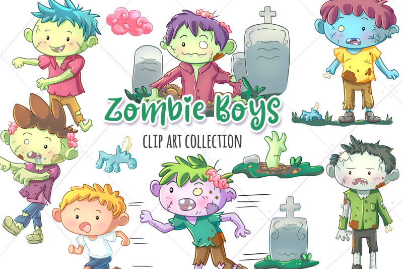 zombie-boys-clip-art-collection