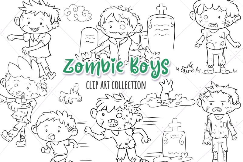 zombie-boys-digital-stamps