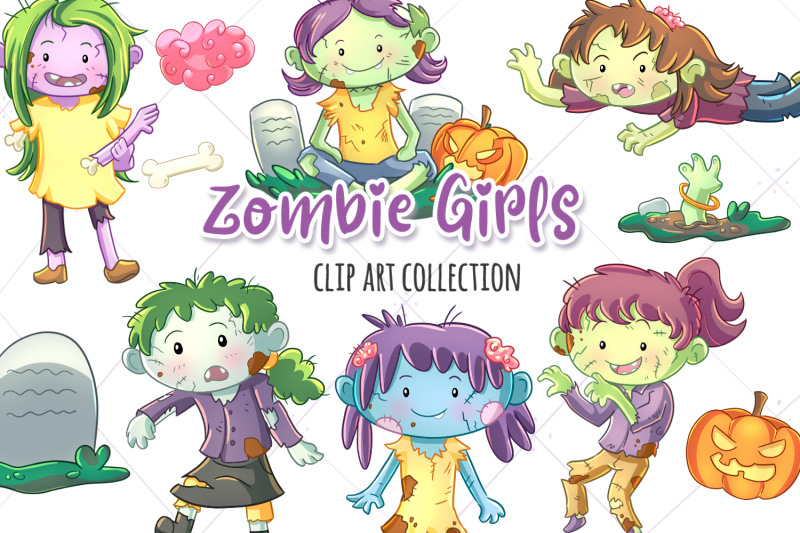zombie-girls-clip-art-collection