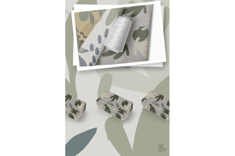 camouflage-floral-pattern-set