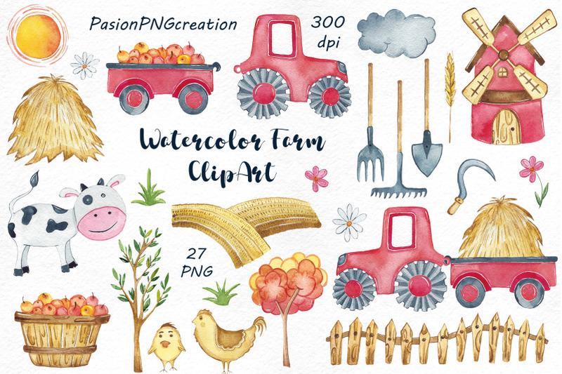watercolor-farm-clipart