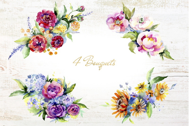 bouquet-of-flowers-between-heaven-and-earth-watercolor-png