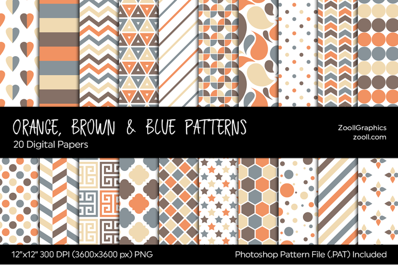 orange-brown-amp-blue-digital-papers