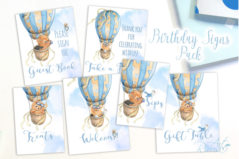 printable-hot-air-balloons-baby-shower-table-signs-6-signs-for-boys
