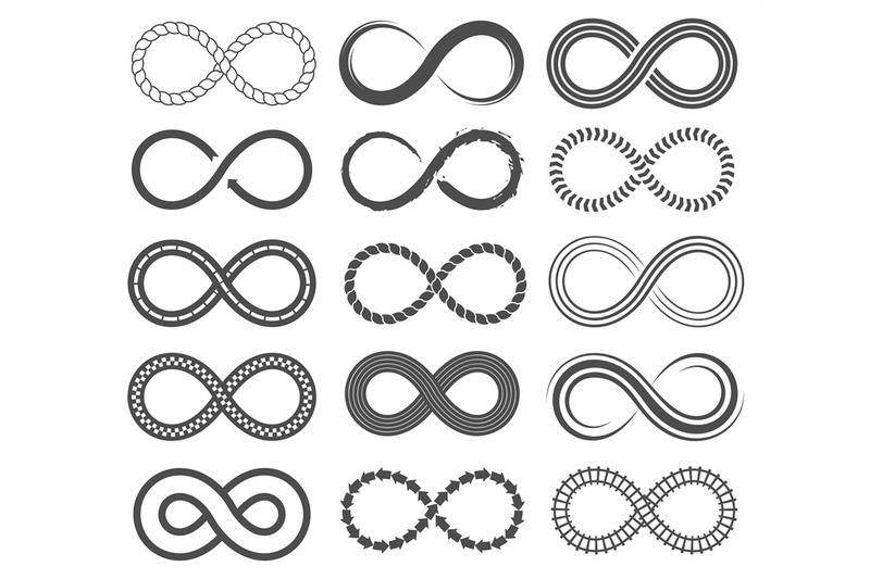 infinity-symbols-endless-loop-shape-unlimited-signs-eight-isolated