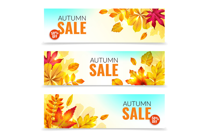 banners-with-fall-leaves-autumn-season-discount-offers-with-red-and-o