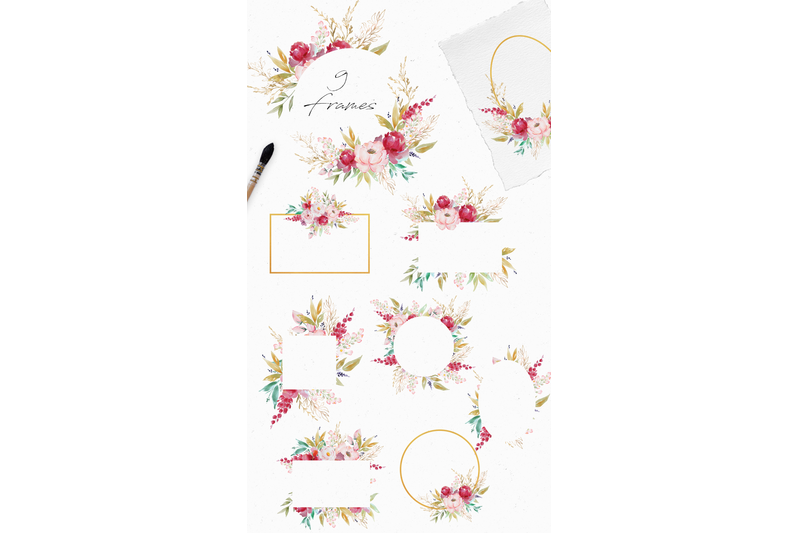 gold-garden-watercolor-set