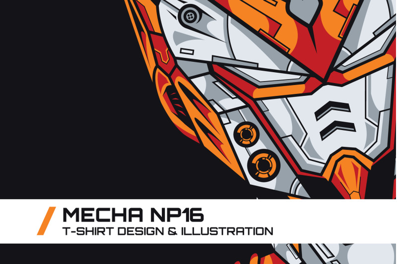 mecha-np16-t-shirt-illustration