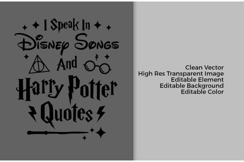 I Speak In Disney Songs By Cuttingsvg Thehungryjpeg Com