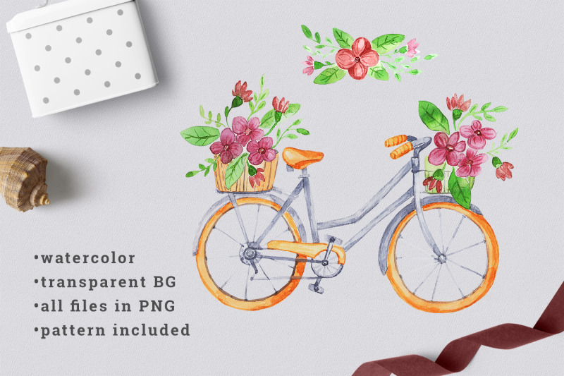 watercolor-bicycle-with-flowers-1