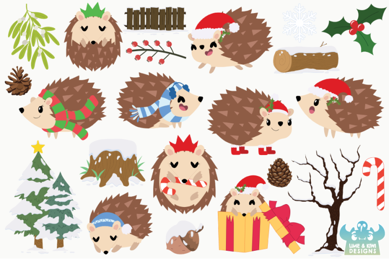 christmas-hedgehogs-clipart-instant-download-vector-art