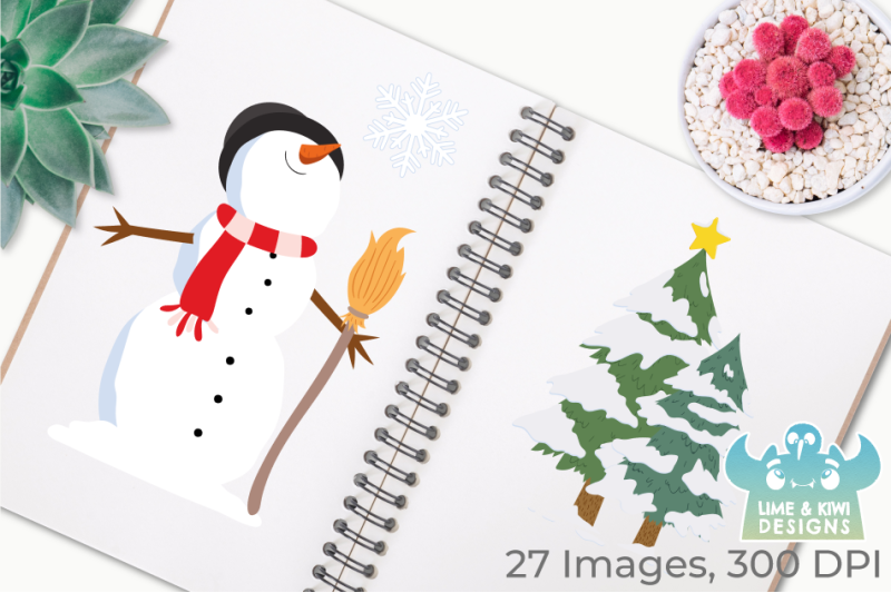 christmas-snowmen-clipart-instant-download-vector-art