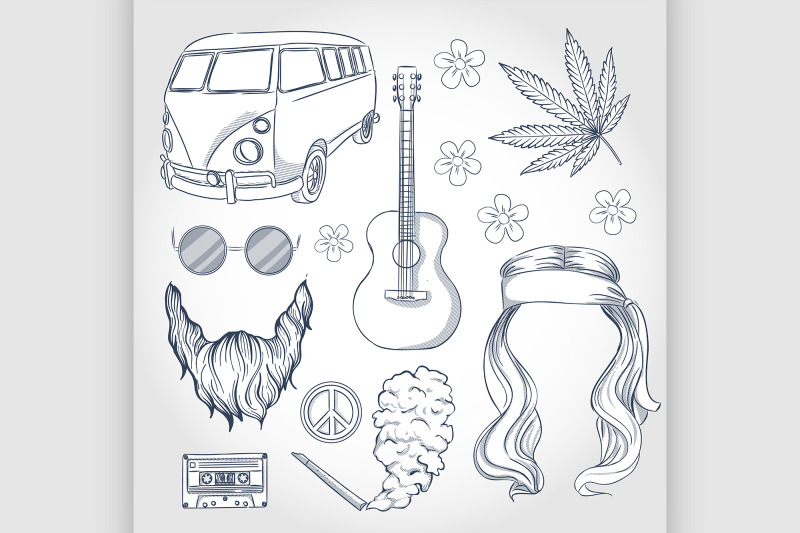 hand-drawn-hippie-attributes