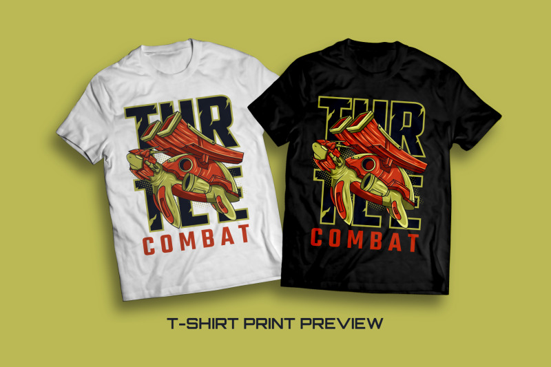 turtle-combat-t-shirt-illustration