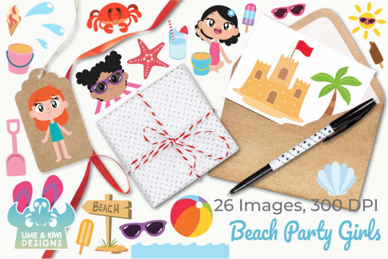 beach-party-girls-clipart-instant-download-vector-art