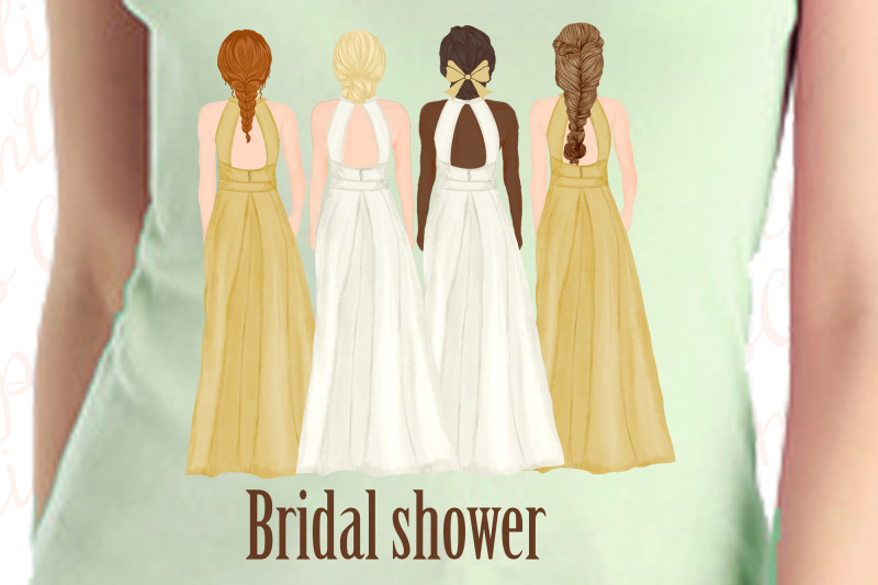bride-and-bridesmaids-clipart-wedding-clipart-bridal-clipart