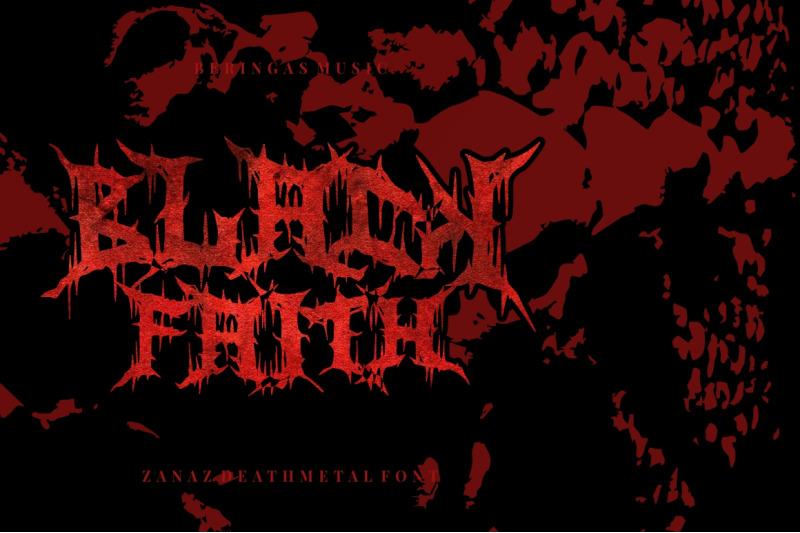 zanaz-deathmetal-font