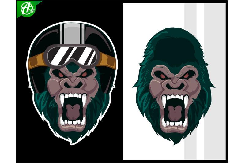 gorilla-head-mascot