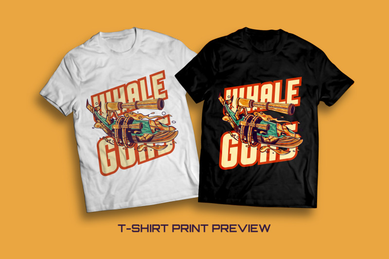 whale-guns-t-shirt-illustration