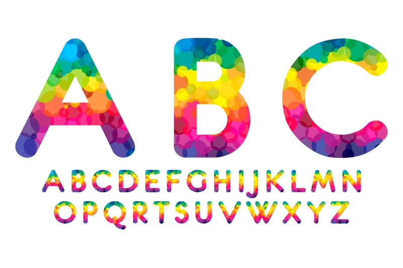 rainbow-font