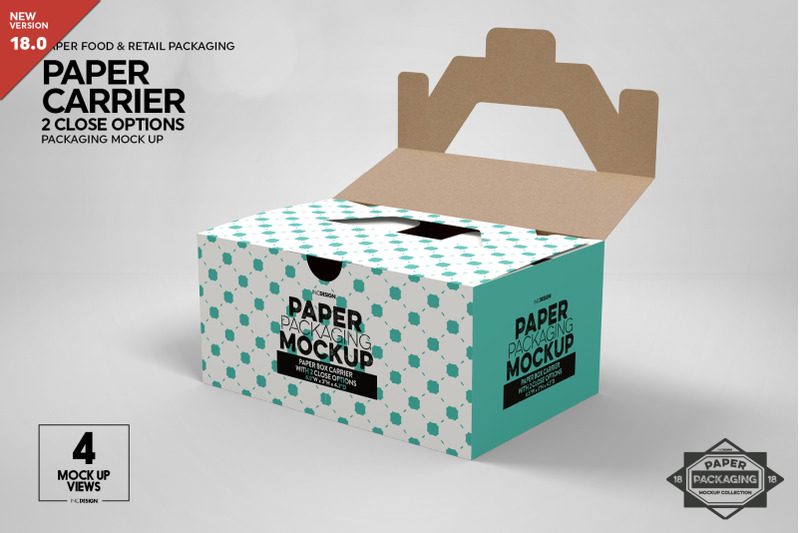 Free Paper Carrier with 2 Closure Options (PSD Mockups)