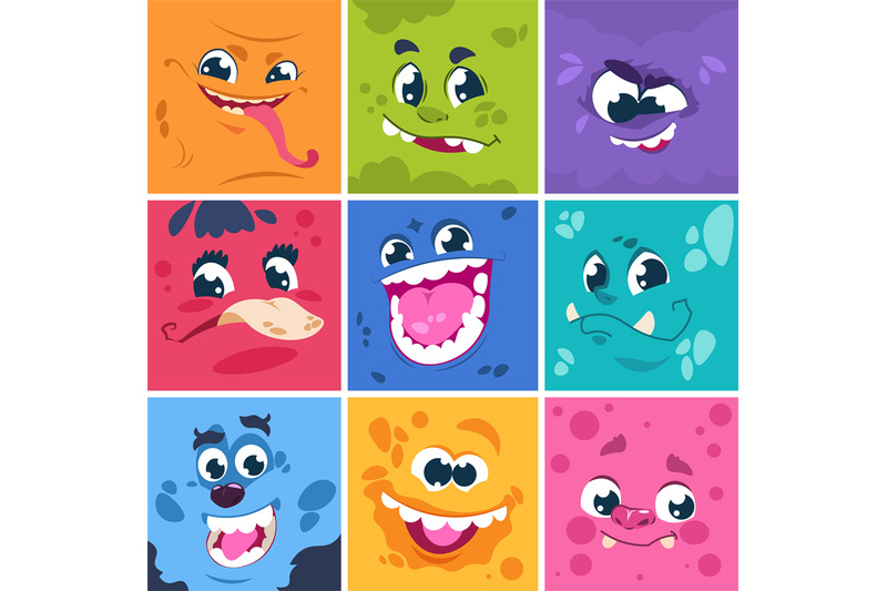 monsters-faces-cute-cartoon-characters-with-different-funny-expressio