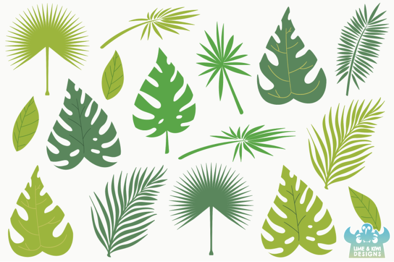 tropical-leaves-clipart-instant-download-vector-art