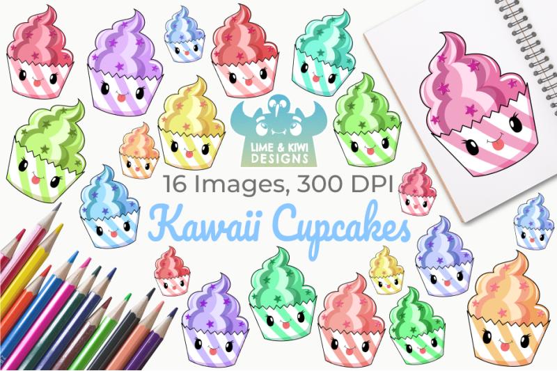 kawaii-cupcakes-clipart-instant-download-vector-art