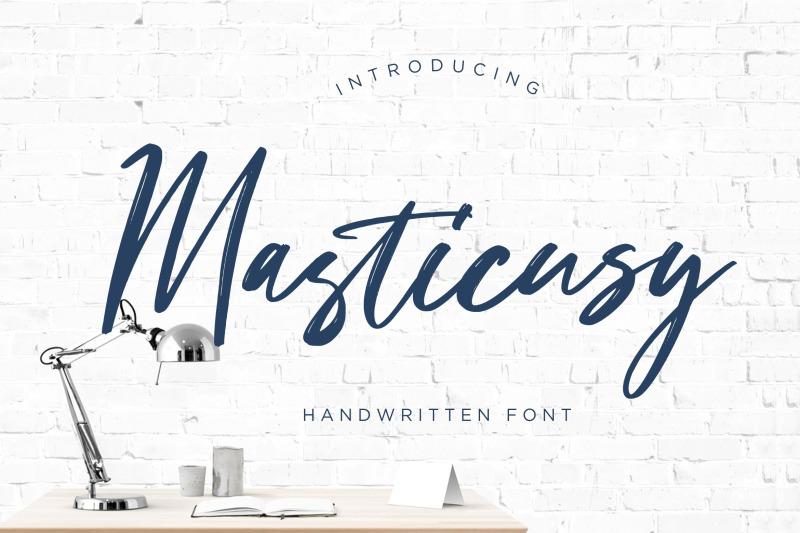 masticusy-handwritten-font