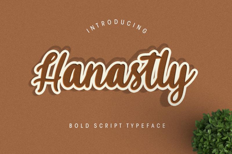 hanastly-bold-script