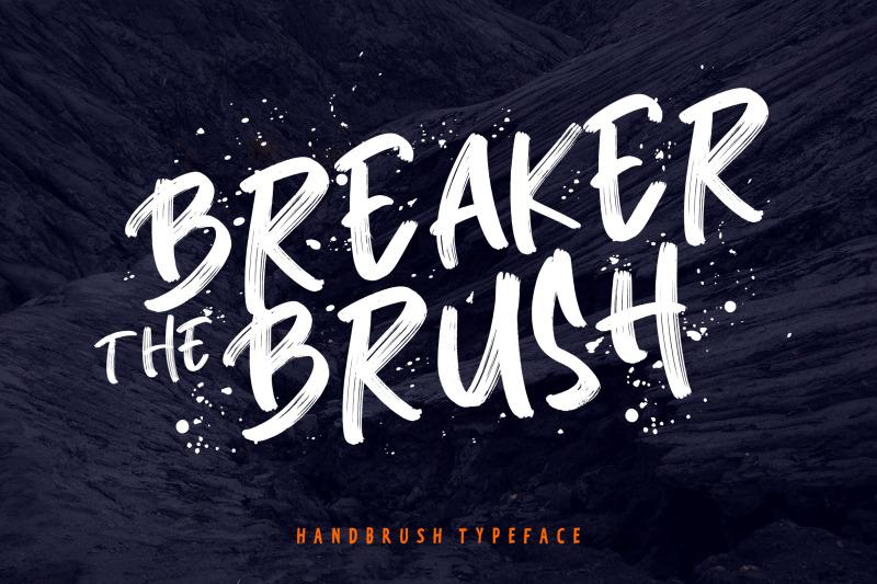 breaker-the-brush-typeface