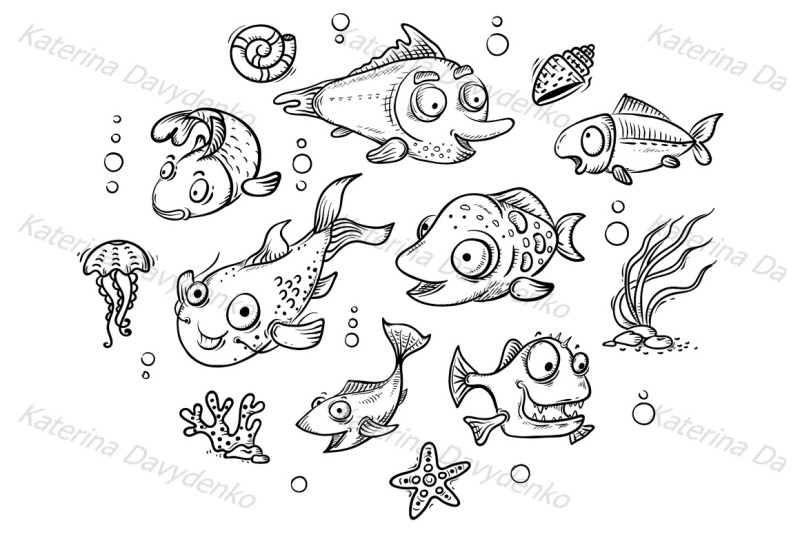 a-set-of-cartoon-tropical-fishes